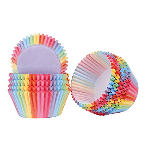Papel para Cupcakes 200 Unidades Rainbow Papel para Magdalen