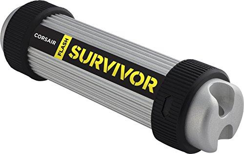 Corsair Flash Survivor 64GB USB 3.0 Flash Drive, Aluminium, black, Model: CMFSV3B-64GB