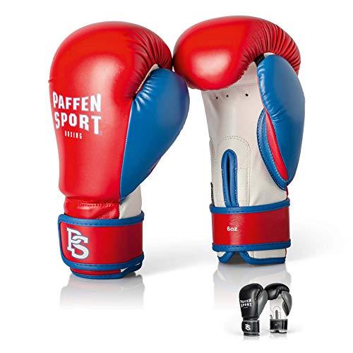 Paffen Sport Kids Boxhandschuhe für das Training; Gewicht: 8UZ; Farbe: Rot/Blau/Weiß