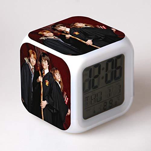 buenos comparativa SXWY Harry Potter Reloj despertador digital, luces de colores, reloj despertador, reloj cuadrado … y opiniones de 2021