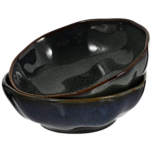 Cabilock 2 Piezas de Platos Laterales de Porcelana Japonesa Retro Cuenco de Condimentos Platos de Salsa de SOYA para Cocina Casera 150Ml