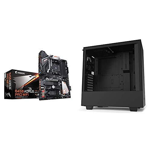 GIGABYTE B450 AORUS PRO Wi-Fi & NZXT H510 - Compact ATX Mid-Tower PC Gaming Case - Front I/O USB Type-C Port - Tempered Glass Side Panel - Cable Management System - Water-Cooling Ready - Black
