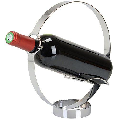 Porte-bouteille Cercle Gris chrome Métal La chaise longue 34-2K-018