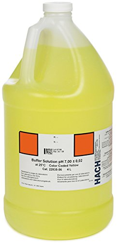 Hach 2283556 Buffer Solution, pH 7.00 (NIST), color-coded yellow, 4L