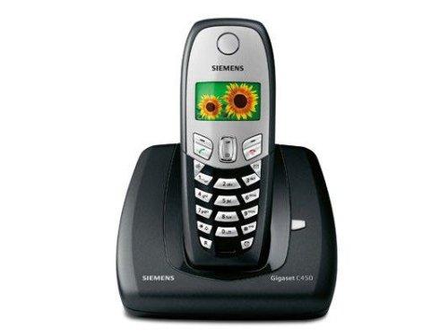 Siemens Gigaset C450 Colour, Schnurloses DECT-Telefon mit Farbdisplay, schwarz