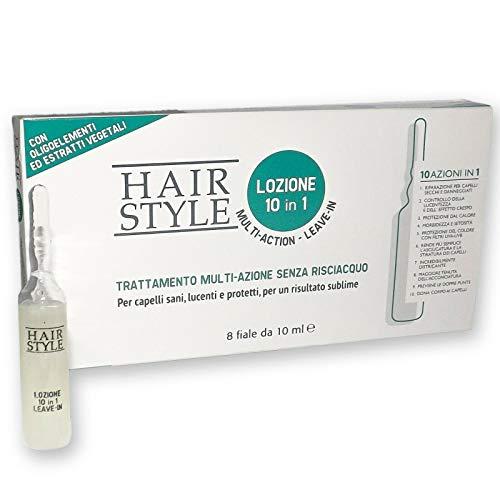 LOZIONE TRATTAMENTO PROFESSIONALE MULTI-AZIONE 10 IN 1 CAPELLI HAIR STYLE 0791 (1 confezione 8 fiale)