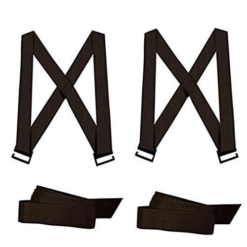 ZJ-SUMBRELLA Cinturones Levantamiento, Cinturones Levantamiento Muebles Transporte Capacidad Carga 360 kg, Sistema Levantamiento y Movimiento para 2 Personas y Objetos Pesados, Brazo o Hombro, Negro
