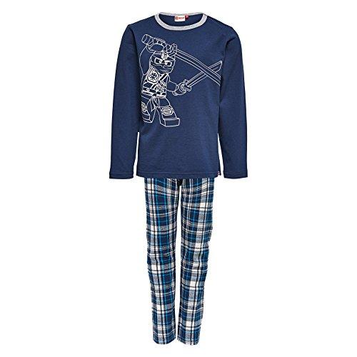 LEGO Wear Jungen Lego Boy Classic NICOLAI 722-Schlafanzug Zweiteiliger Schlafanzug, Blau (Dark Navy 589), 110