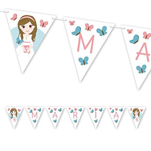 Guirnalda Mi Primera Comunión niña con mariposas. Guirnalda decorativa. Banderines para fiestas. NAC012: Amazon.es: Handmade