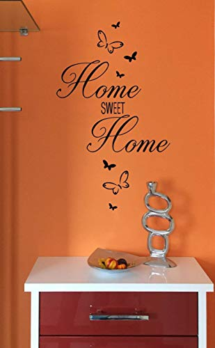 "*NEU* Wandaufkleber Wandtattoo Wandsticker/Flur""HOME SWEET HOME - inkl. Schmetterlinge"" (Größen.- und Farbauswahl)"