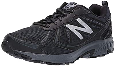New Balance Men's 410 V5 Trail Running Shoe, Black/Thunder, 12 M US