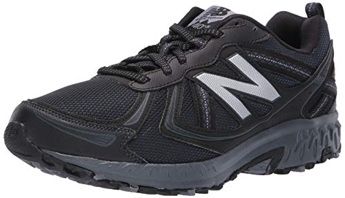 New Balance Men's MT410v5 Cushioning Trail Running Shoe, Black, 9 D US
