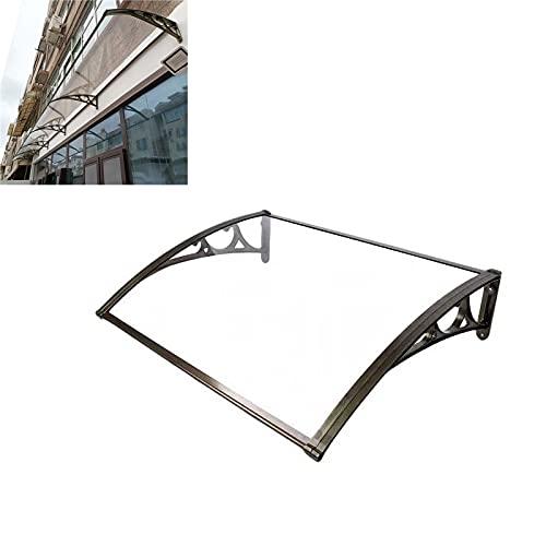 QYQPB Balkon Vordach Sunshade, Silent Endurance Board Überdachung, Außenfenster Terrasse Haustür Überdachung (Size : 60 * 200cm)