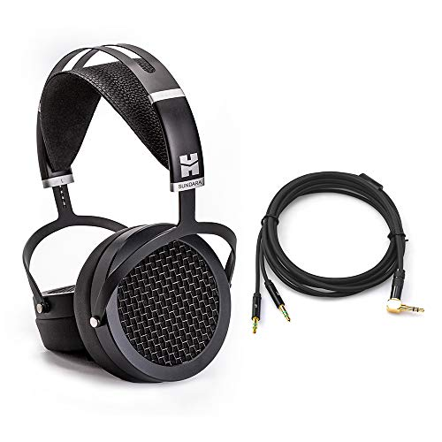 HIFIMAN SUNDARA Hi-Fi Headphone with 3.5mm Connectors, Planar Magnetic, Comfortable Fit with Updated Earpads-Black, 2020 Version
