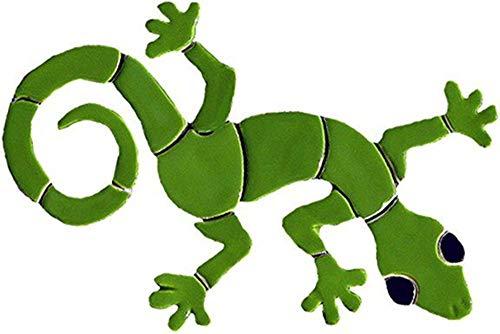 """Degroot Studios Gecko Ceramic Swimming Pool Mosaic (13"""", Green)"""
