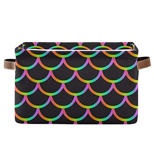 XXNO - Cesto portaoggetti per pesci, con motivo a sirena, ideale per riporre oggetti, giocattoli, giocattoli, cameretta
