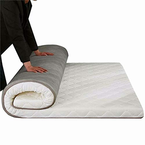 "WCOLAS Foldable Sleeping Mattress Pad for Home Sleep & Travel, Japanese Tatami Futon Floor Mat, Student Dormitory Mattress-Best as Adult Guest Bed,Kids Camping Cot,RV, Thicken Size-8 cm/3"" inch"