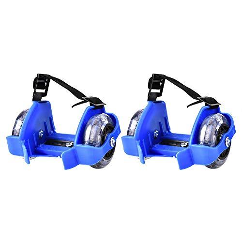 Zerodis. Unisex's Flashy Rollers, Oplichten Wiel Hiel Schaatsen Roller Verstelbare Band Knipperende Wielen Schoen Skateboard Kleur Licht voor Volwassen Kinderen