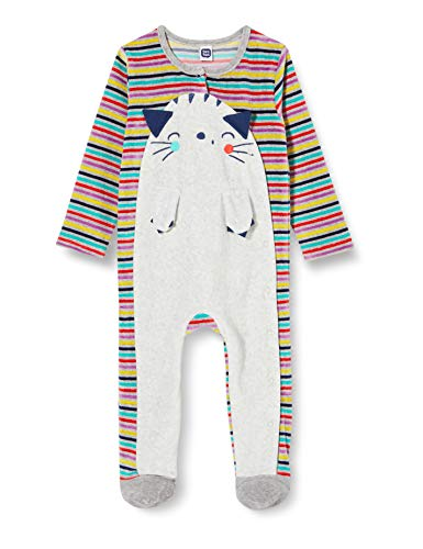 Tuc Tuc Pelele TUNDOSADO Wake UP Mamelucos para bebés y niños pequeños, Gris, 3-6M