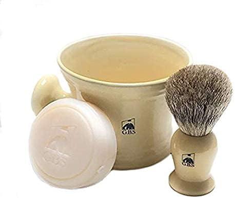 Men's Shaving Set - Badger Max 58% OFF Ivory Mug and Indefinitely Brush Ceramic