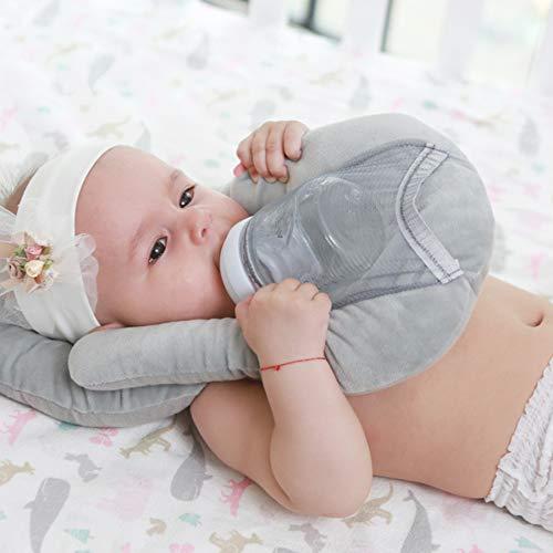 Almohada de alimentación para bebés Soporte para biberón infantil Cojín de auto lactancia Algodón Mano libre Soporte para biberón de leche para niños pequeños