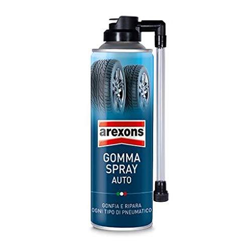BOMBOLETTA AREXONS GOMMA SPRAY RIPARA GONFIA PNEUMATICO TUBELESS AUTO FORATURA