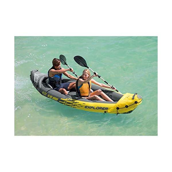 Intex Explorer K2Kayak, Kayak Hinchable de 2Personas Set con remos de Aluminio y Bomba de Aire de Salida de Alta 2