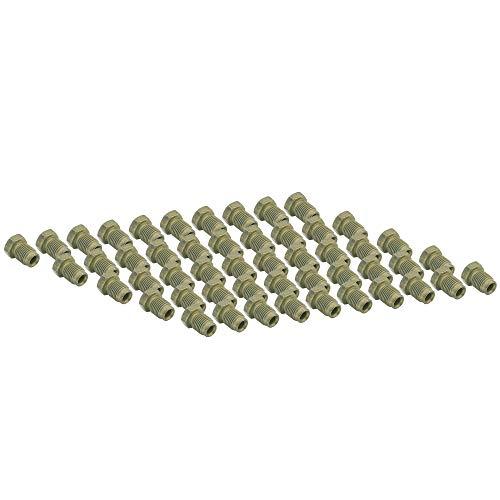 4LIFETIMELINES 3/16 (M10 x 1.0 Bubble) Steel Brake Line Fitting, Tube Nut, Pack of 50