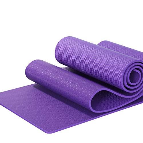 SAP- Yoga Mat Vrouw Verbrede Verdikte Beginner Sport Yoga Deken Verlengde Non-slip Fitness huis Mat Fitness Mat zacht (Color : Purple, Size : 184cm*61cm*6mm)