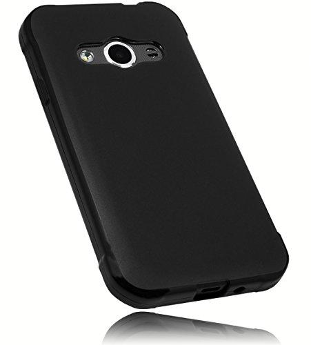 mumbi Hülle kompatibel mit Samsung Galaxy Xcover 3 Handy Case Handyhülle, schwarz