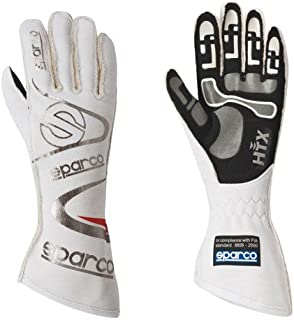 Sparco Arrow RG-7 Racing Gloves 01352A (Size 7, White/Black)