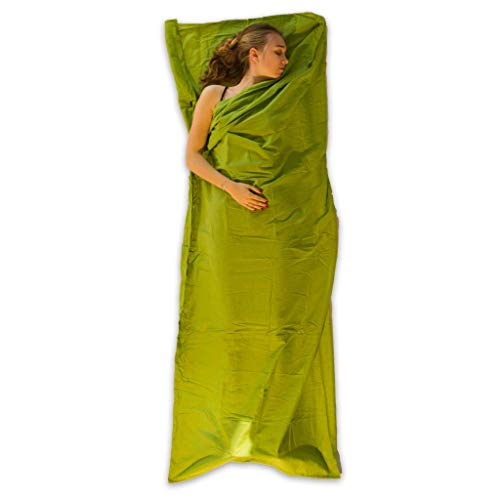 LOWLAND OUTDOOR® Hüttenschlafsack - Baumwolle - 220x80 cm - 310g - für Berghütten, Backpacking und Hotels