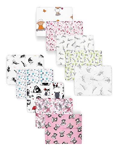 Be Mammy Baby Windelsets Stoffwindeln Mulltücher 70x80 cm 10er Pack BESD001 (Mädchen1 (10 Pack), 70x80)