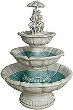 Water Fountain - 3 Foot Tall Lovers Under Umbrella Garden Decor Fountain - Outdoor Water Feature