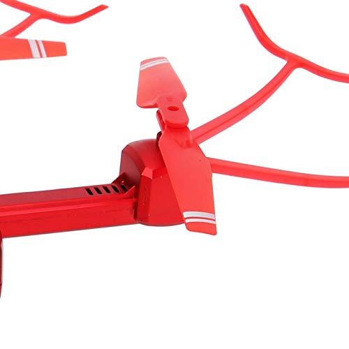 Drone Pieghevole, Quadricottero con Telecomando WiFi Pieghevole, Drone con Telecomando HJ96 e Telecamera RC Aerea WIFI Pressione D\'aria Quadricottero Pieghevole Ad Altezza Fissa con Videocamera(rosso)