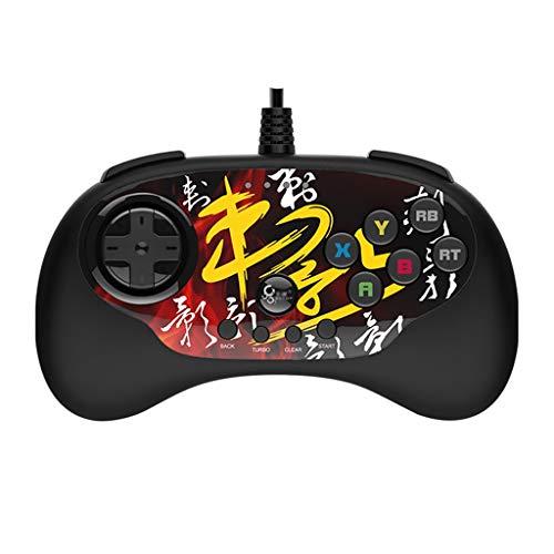 Contrôleur de jeu Manette de Jeu vidéo Adaptateur USB pour Ordinateur Application multiplate-Forme câble antidérapant Anti-Transpiration (Color : Black, Size : 15.3 * 8.5 * 4cm)