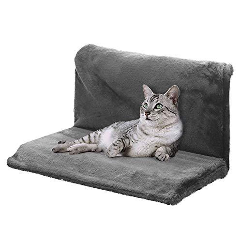 JuneJour Katzenbett Katzenhängematte Katzenheizungsliege Warschbar Warm für Heizung Bett Kuschelsack 46 * 30 * 25 cm(schwarz)