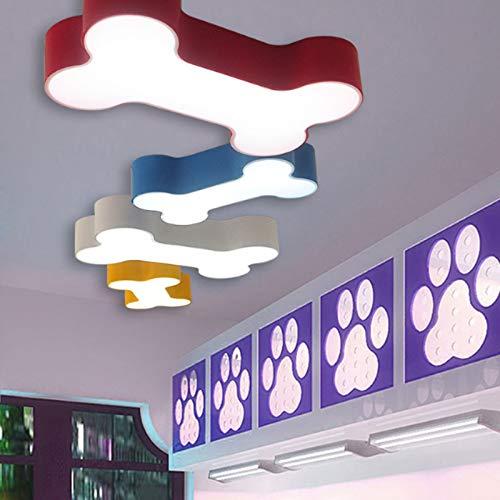 Moderne kurze bunte körper schlafzimmer acryl LED decken lampe hause dekoration kinder raum farbe weiß eisen hund knochen dimmbare (Warmes Weiß,WHITE)