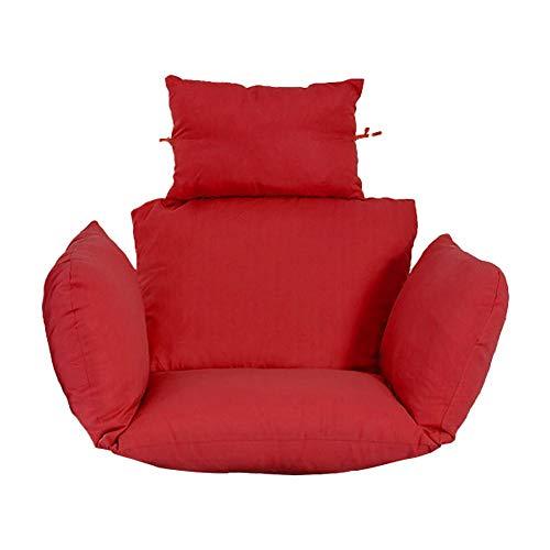 Hängesessel Schaukel Sitzkissen Swing Hängender Korb Sitzkissen Verdicken Hängende Ei-hängematte Stuhlkissen für Drinnen Oder Draußen - 6D Hohle Baumwollfüllung, Reißverschluss zum Abnehmen