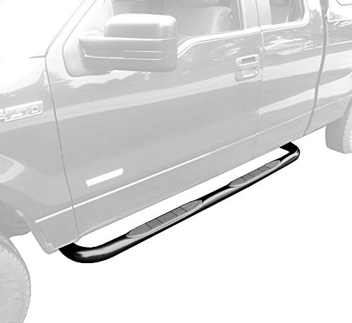 MaxMate Premium Compatible with 09-14 Ford F150 Super Cab Black 3' Side Step...