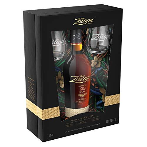 Zacapa mit Geschenkpackung mit 2 Gläsern Rum (1 x 0.7 l)