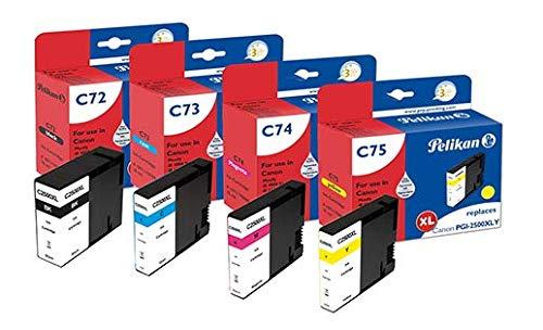 Pelikan Pack de 4 Cartuchos de Tinta reemplazo para Canon PGI-2500XL Negro/Cian/Magenta/Amarillo