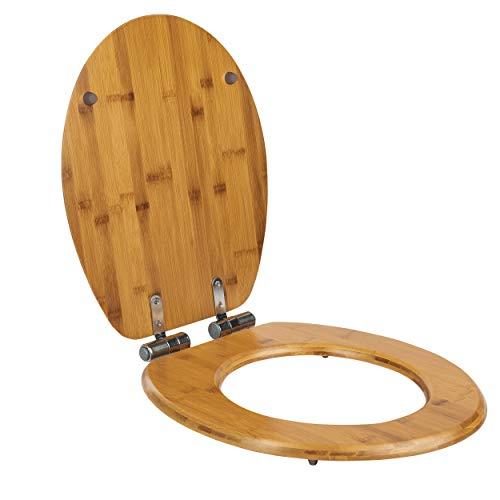 ONVAYA® WC-Sitz mit Absenkautomatik | Toilettensitz & Toilettendeckel aus Bambus-Holz | Klodeckel | Easy-Clean Funktion | Klositz im Bambus Design | WC Deckel in Holzoptik