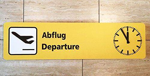 Flughafenuhr Flugzeuguhr Abflug Departure Wanduhr Design Made in Germany