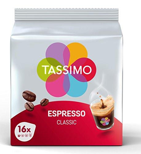 Tassimo Café Dosettes - 80 boissons Espresso Classique (lot de 5 x 16 boissons)