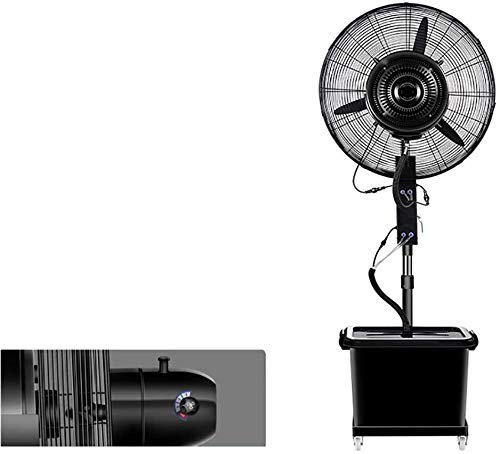 Fan Stehen Umluftgebläse Vibration - Silent Industrie-, Gewerbe-, Wohn- und Gewächshäuser - Schwarz, Größe: 810 mm (Size : 810mm)