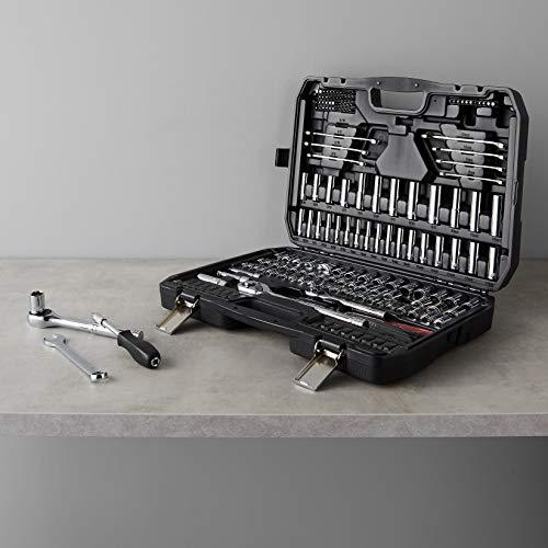Amazon Basics Mechanic Socket Tool Kit Set With Case - Set of 201