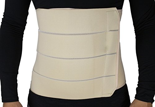 ObboMed MB-2322NS 4-Bänder atmungsaktiver und elastischer Gürtel/Bauchstützgürtel nach Operation, nach Geburt, bei Verletzungen, Nabelbruch, Trimmen der Taillie und Bauch - S : 56,0-86,3 cm