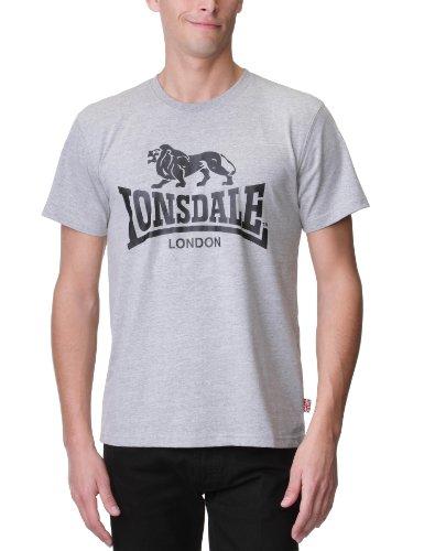 Lonsdale T-Shirt Logo Camiseta, Gris (Steingrau), Large para