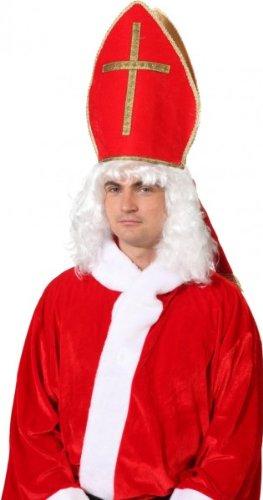 Bischofsmütze Mitra zum Nikolaus Kostüm an Weihnachten